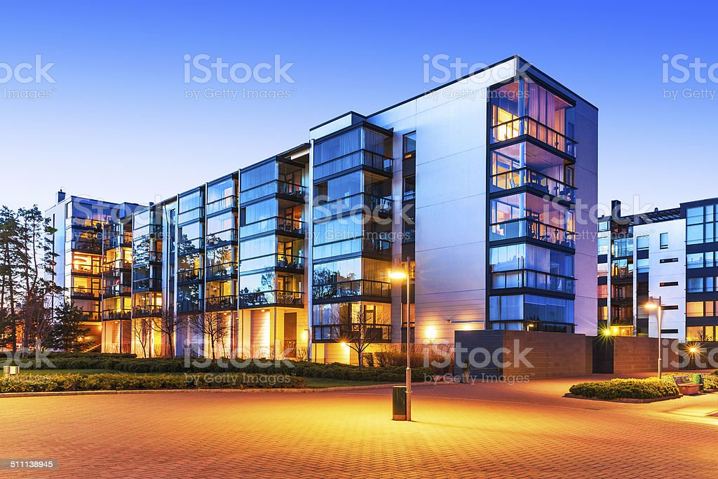 Modern real estate stock photo