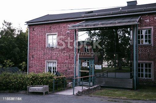 istock Modern rebuild old brick house in Oulu 1155381164