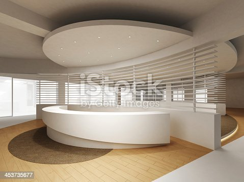 908258590 istock photo Modern reception counter design 453735677