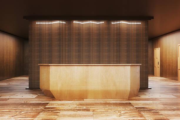 modern reception desk front - 受付係 ストックフォトと画像
