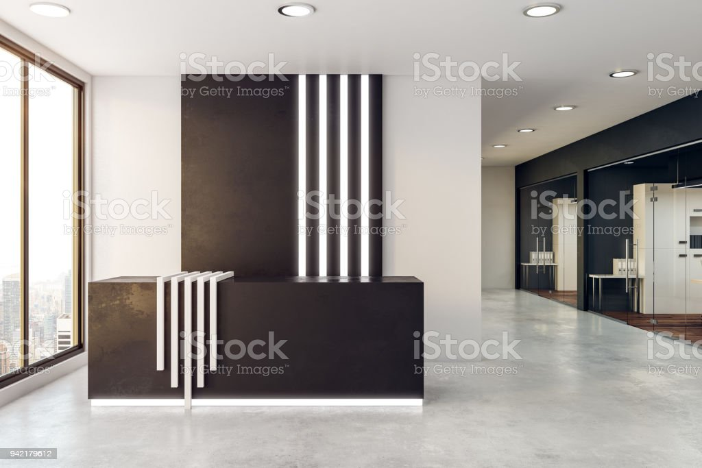Modern Reception Desk Stock Photo Download Image Now Istock
