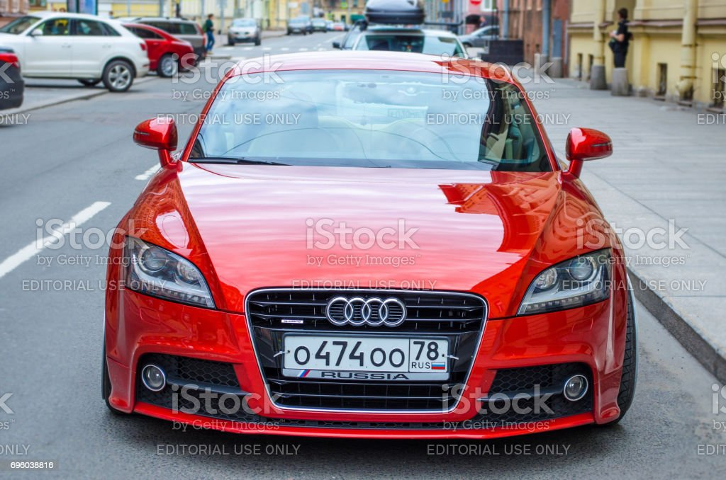 Modern Red Audi Car Russia Saintpetersburg June 2017 Stock Photo