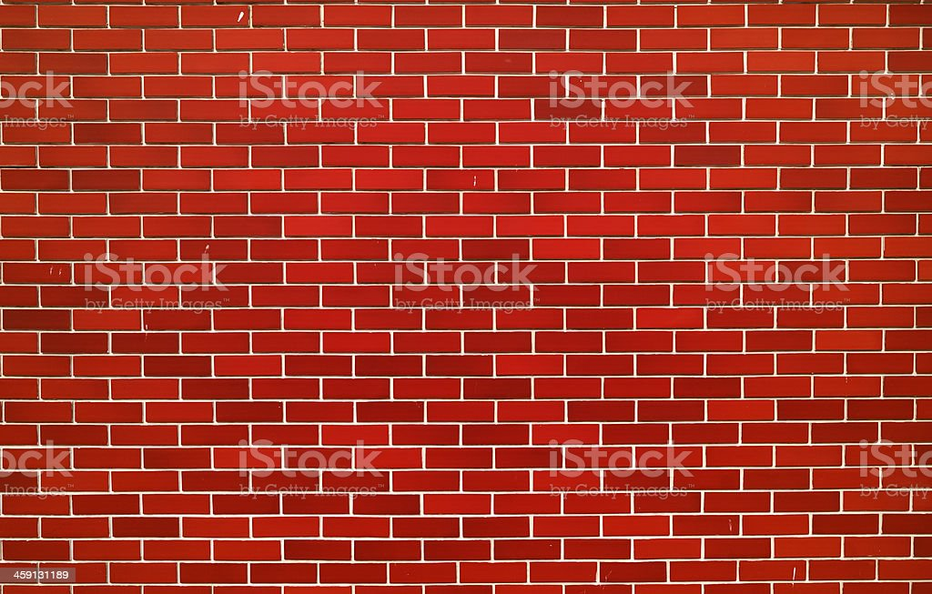 Modern red brick wall royalty-free stock photo