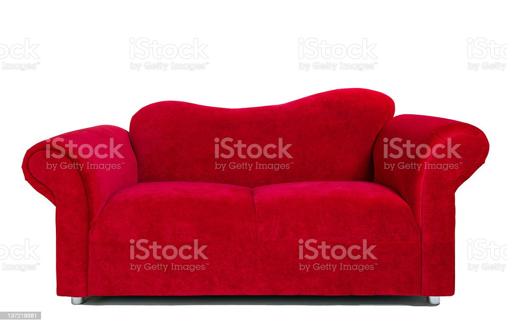 modern red cloth sofa royalty-free stock photo