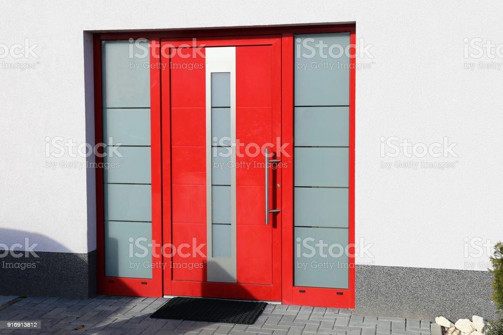 Modern Red Front Door Stock Photo Download Image Now Istock