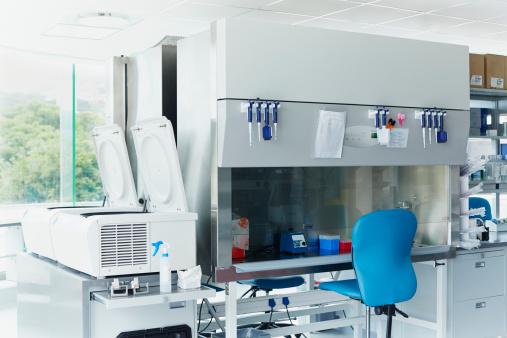 Modern biotechnology research laboratory