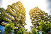 Modern residantial district in Milan
