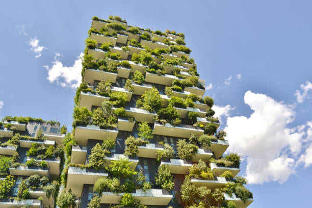 Modern residences Vertical Forest - Bosco Verticale- in the centre of Milan. stock photo