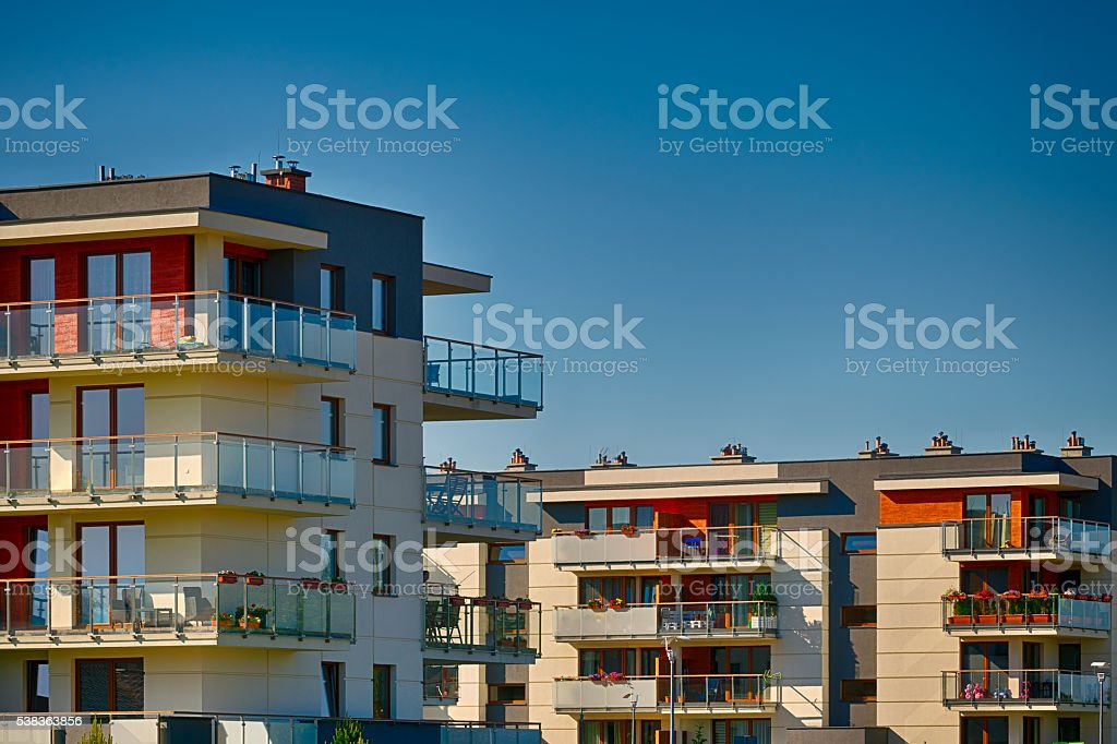 modern residental 2 stock photo