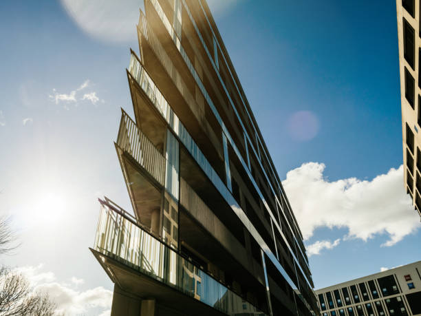 Modern residential and office building - foto stock