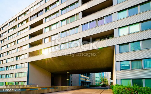 istock Modern residential apartment and flat building exterior of Vienna reflex 1195571707
