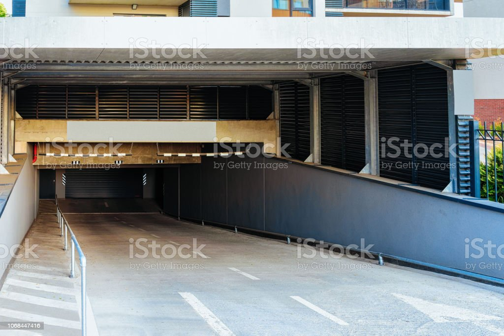 Modern Residential Apartment Building Architecture Garage ...