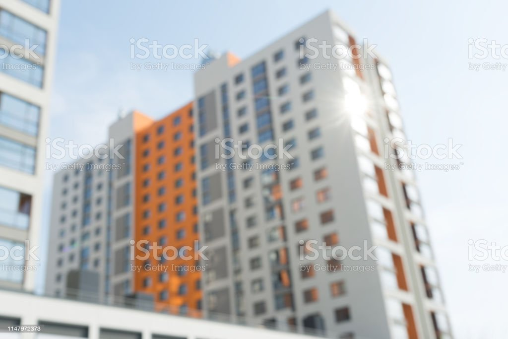 modern residential apartment buildings with a blurred background