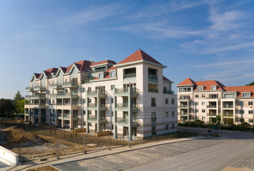 Modern Residential Apartment Complex Stock Photo - Download Image Now