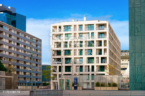 949087660 istock photo Modern residential apartment with flat building exterior Vienna 1170126174