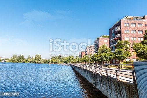 istock modern residential brick houses in berlin at Rummelsburg lakeside 638227450