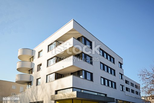 istock Modern residential building, Facade of new low-energy house 503812388