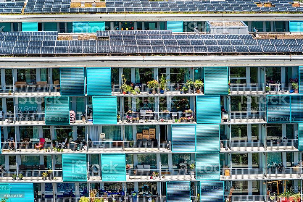 Modern residential building in Zurich - Foto de stock de Arquitectura exterior libre de derechos