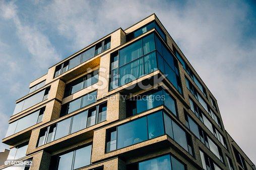 istock Modern residential building 614038482
