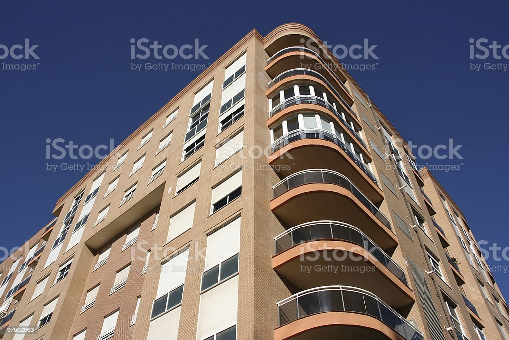 Modern residential building royalty-free stock photo