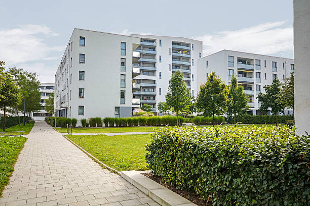 Modern residential buildings, apartments in a new urban housing – Foto