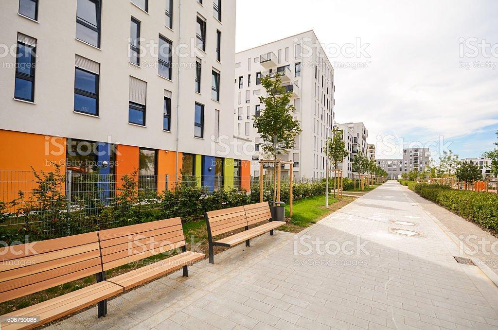 Bauwerk Hamburg moderne wohnliche gebäudefassade neue wohnung häuser stockfoto