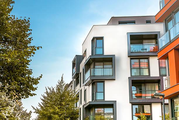 Moderne, wohnliche Gebäude in Berlin – Foto