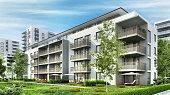 istock Modern residential buildings 1225226886