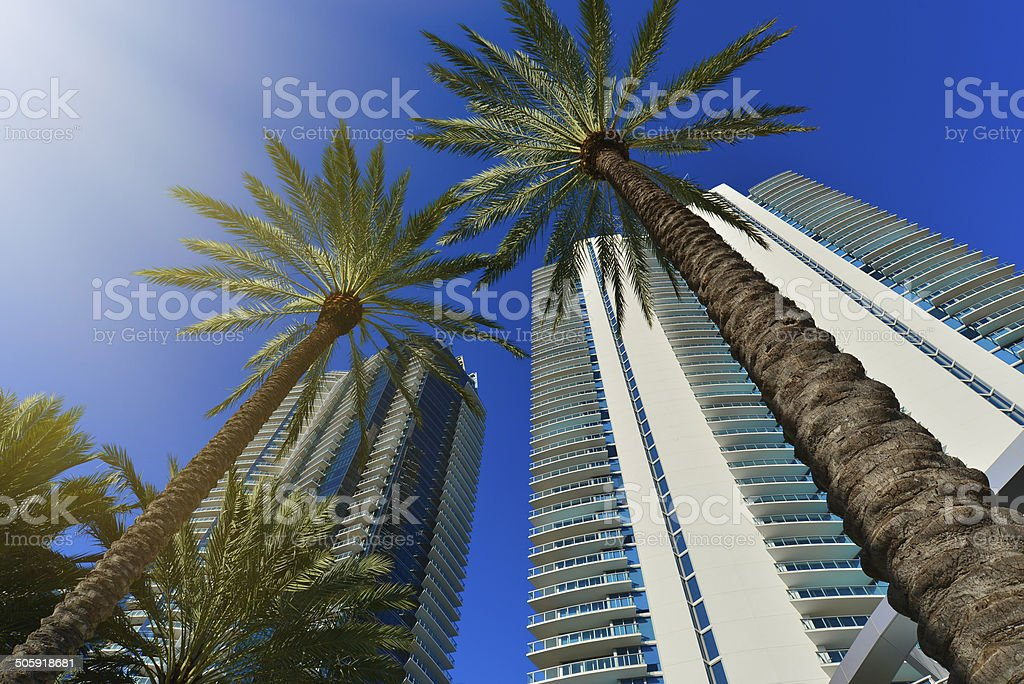 Modern residential buildings stock photo