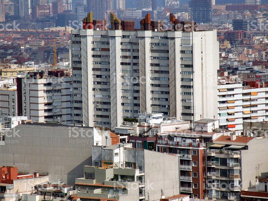 Modern residential concrete blocks royaltyfri bildbanksbilder