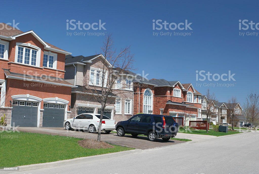Modern Residential Neighborhood stock photo