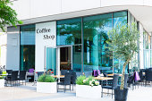 Modern Restaurant, Coffee Shop, Hamburg, Germany