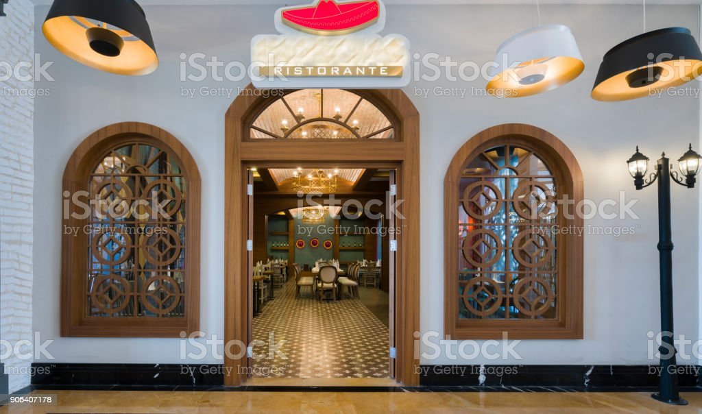 Modern Restaurant Exterior Entrance Part Of A Hotel Stock Photo Download Image Now Istock