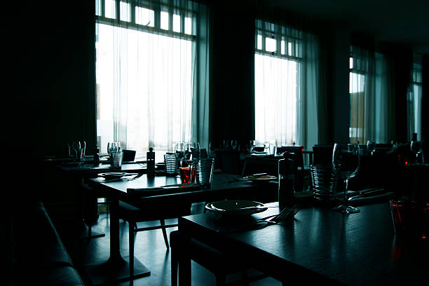 modern restaurant - high contrast image - closed stock pictures, royalty-free photos & images