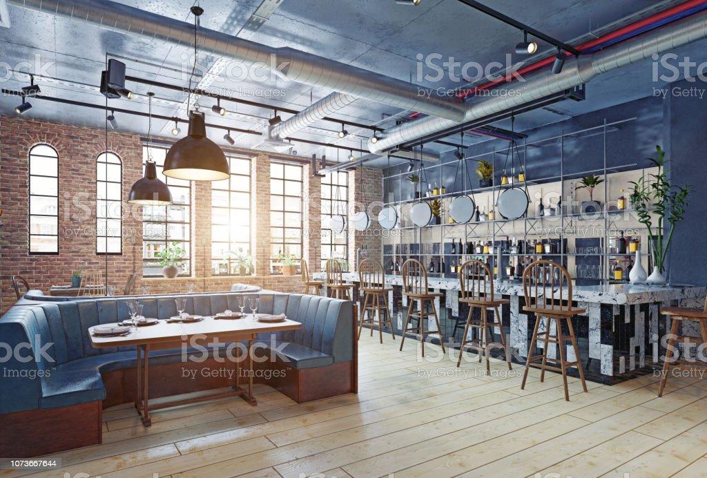 Restaurant Interieur Design.Modern Restaurant Interior Design Stock Photo Download Image Now