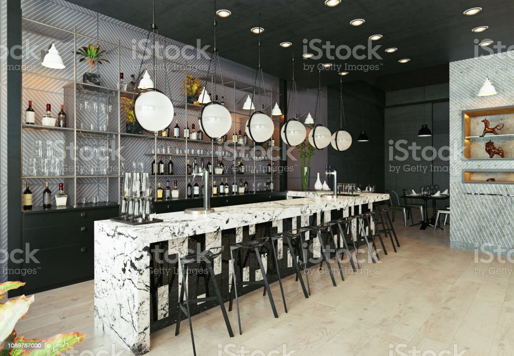 Modern Restaurant Interior Design Stock Photo Download Image Now Istock