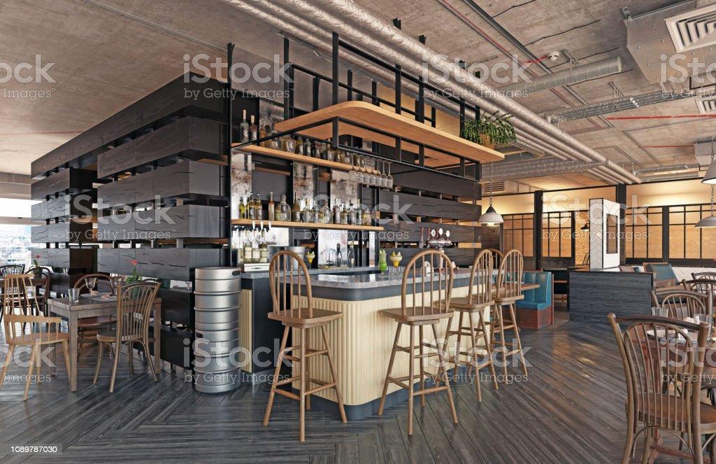 Modern Restaurant Interior Design Stock Photo Download Image Now Istock