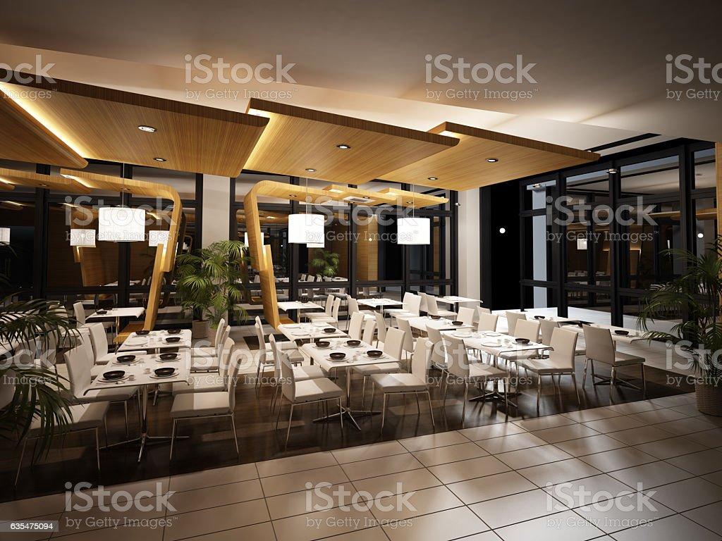 Modern Restaurant Interior View Stockfoto und mehr Bilder von ...