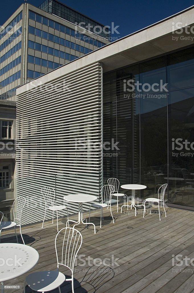 Moderno restaurante patio foto de stock libre de derechos