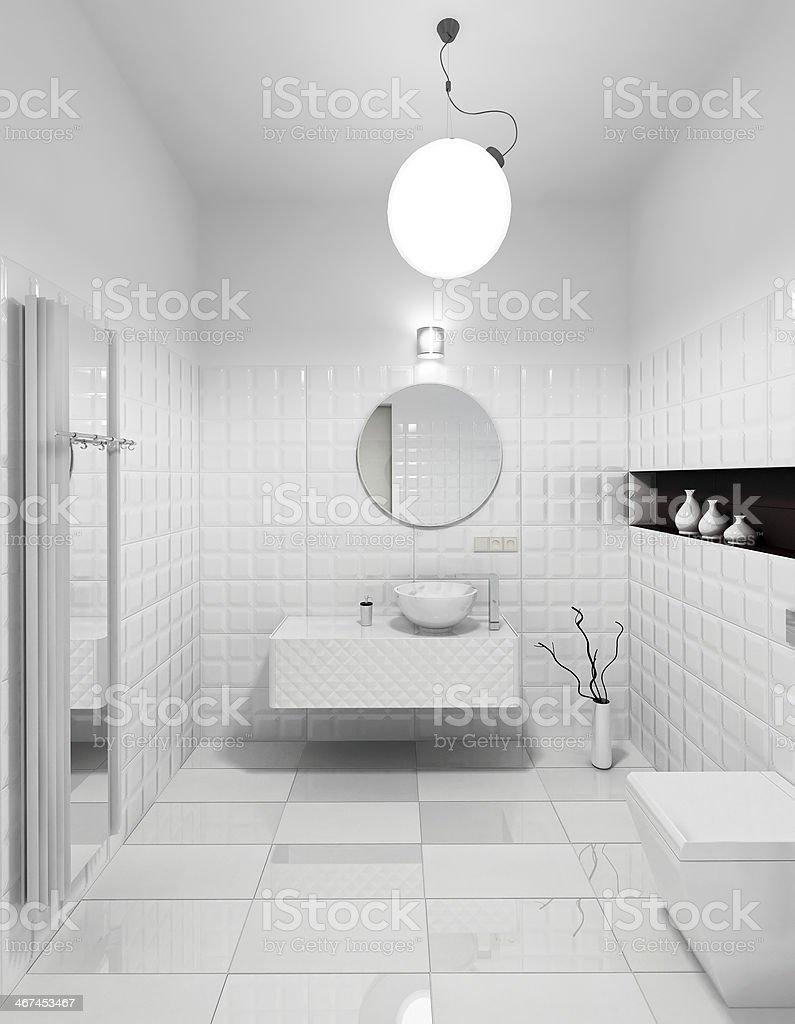 Modern restroom interior royalty-free stock photo