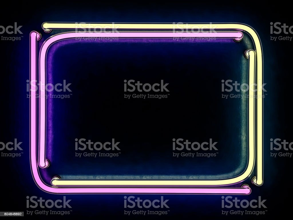 Modern retro billboard background with place for your text. 3D rendering stock photo