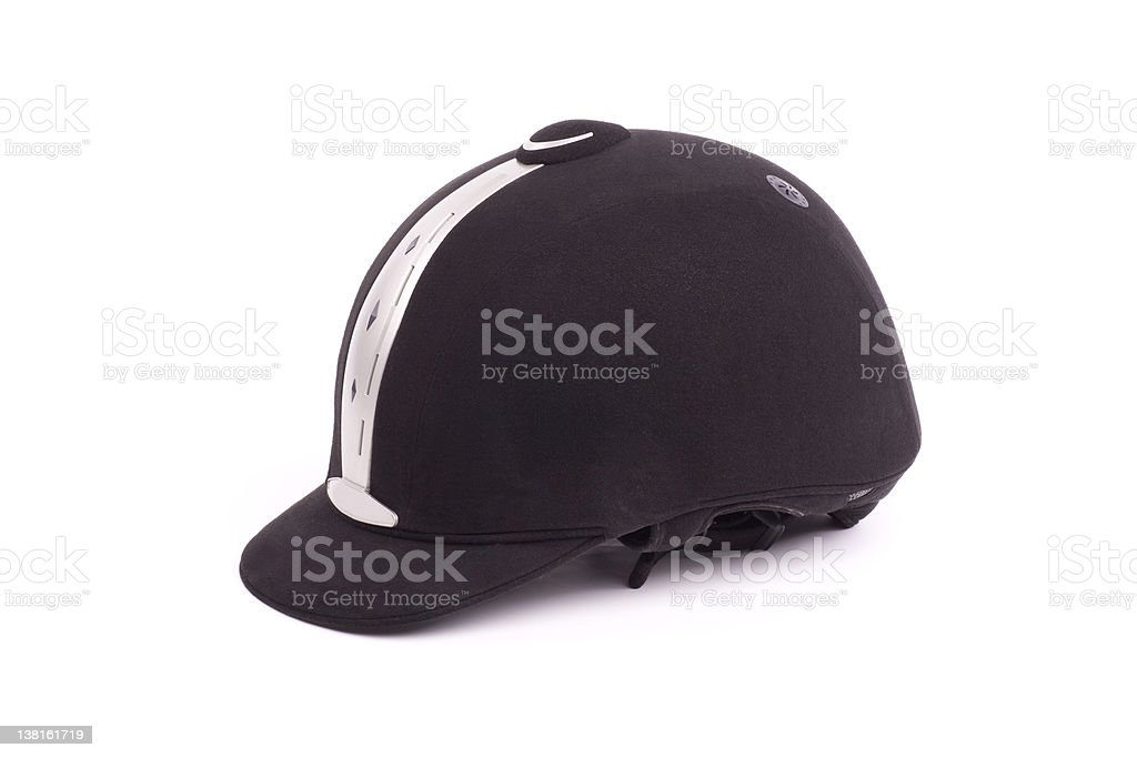 modern riding hat royalty-free stock photo