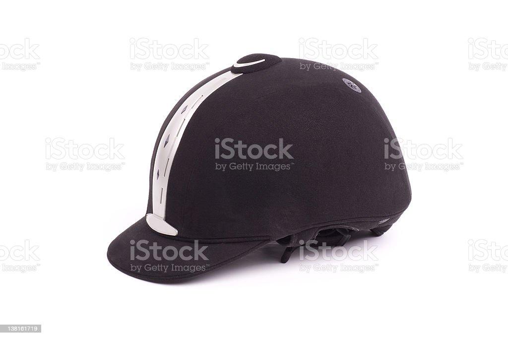 modern riding hat stock photo