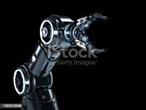 istock Modern robotic arm 1065628586