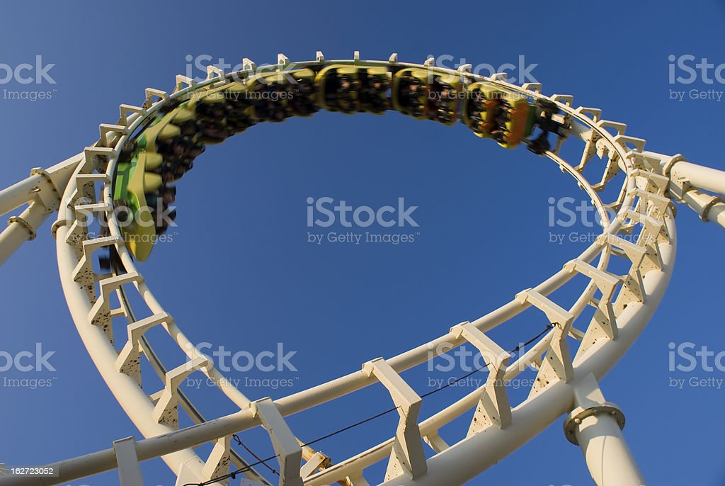 Modern Rollercoaster stock photo