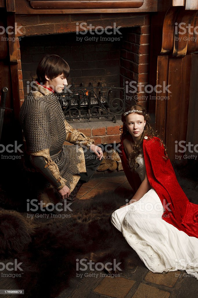 Modern Romeo and Juliet royalty-free stock photo