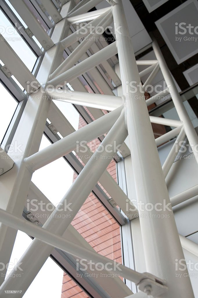 Modern Roof and Window Texture stock photo
