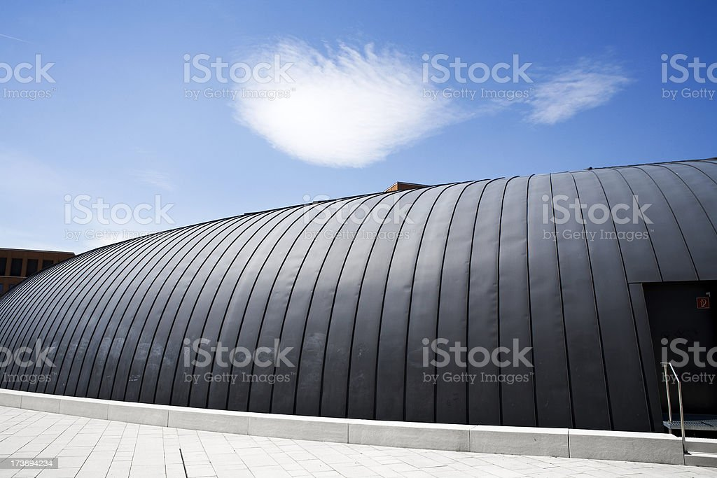 Modern roof construction against blue sky royalty-free stock photo