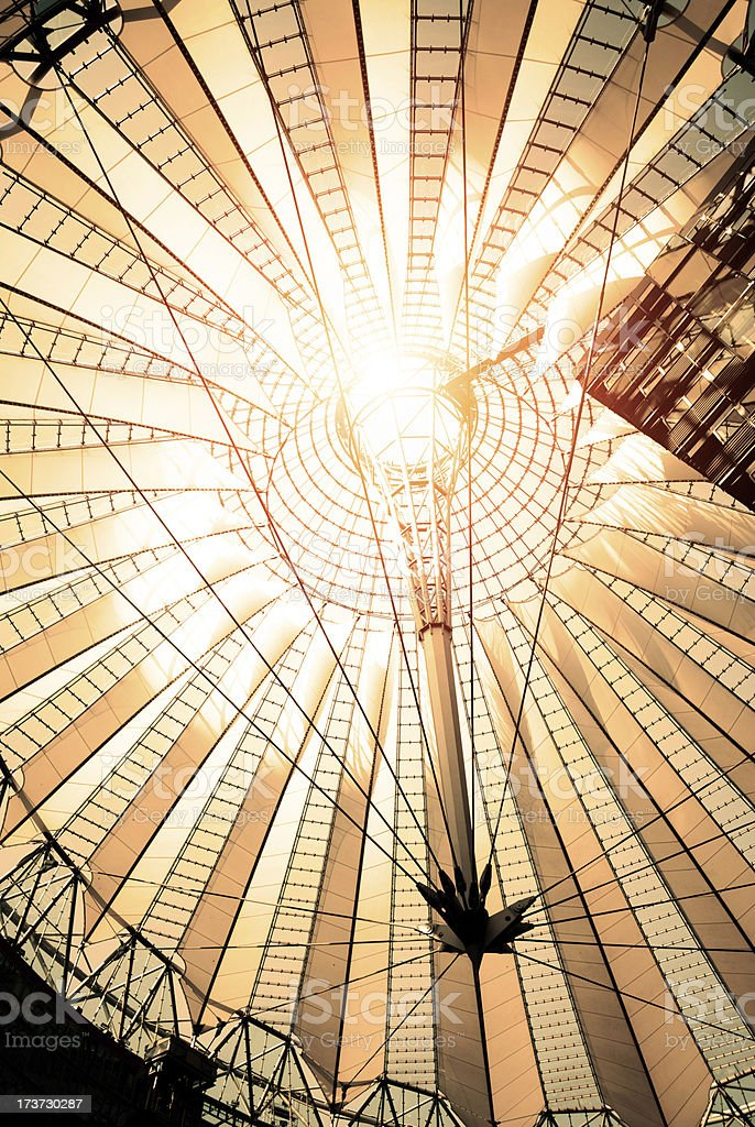 Modern roof of the famous Potsdamer Platz in Berlin royalty-free stock photo