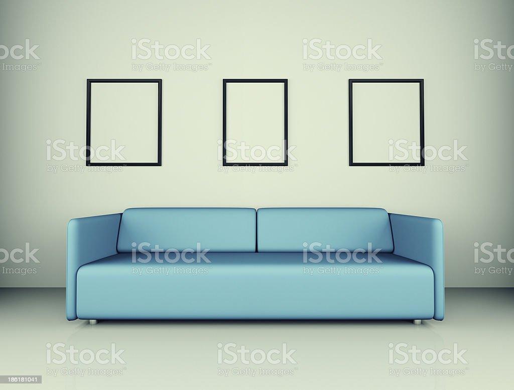 Modern Room Interior royalty-free stock photo